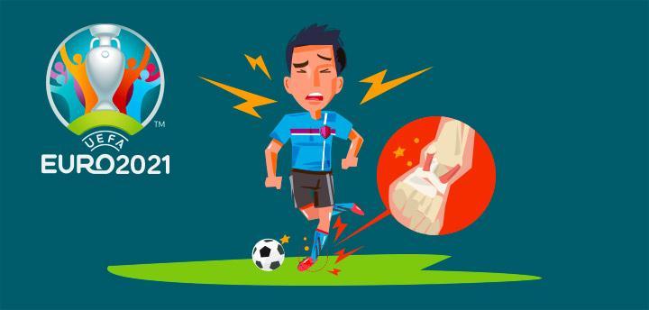 Verletzter Fussballer der Euro 2021