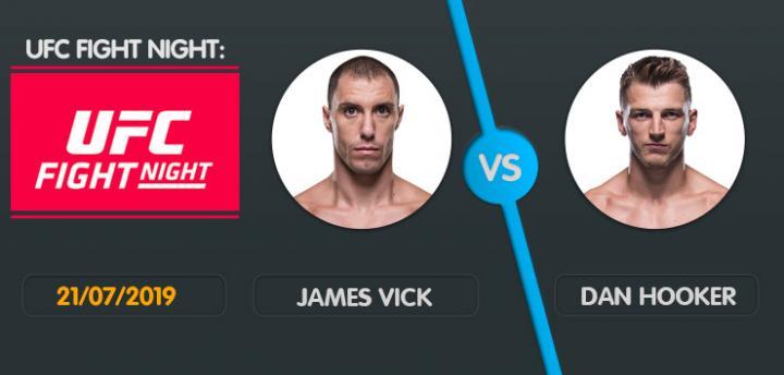 Wett-Tipp James Vick Dan Hooker, Sonntag, 21. Juli 2019 UFC Fight Night
