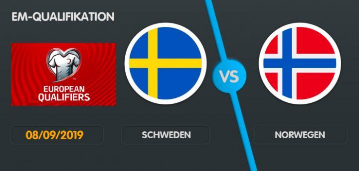 Wett-Tipp Schweden Norwegen, Sonntag, 8. September 2019 Fußball EM Qualifikation
